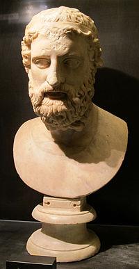 Arte romana, testa di anacreonte, 130-140 dc. ca. 02.JPG