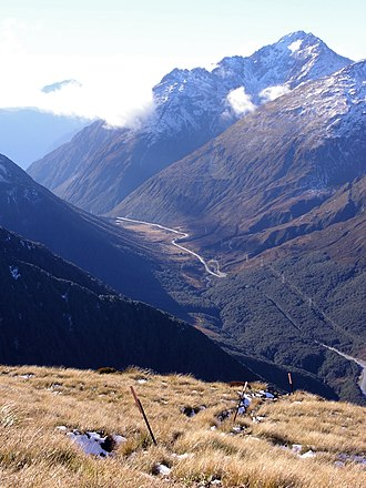 Arthur's Pass National Park - Arthur's Pass seen from the slopes of Avalanche Peak