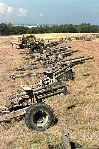 Armed Forces of Haiti - Artillery of the Haitian Army on 24 September 1994.