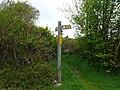 Arwyddbost Llwybyr - Footpath Signpost - geograph.org.uk - 1287405.jpg