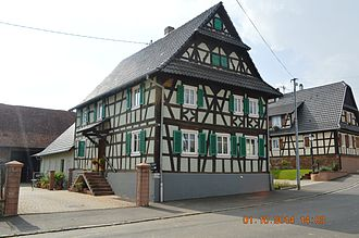 Aschbach, Bas-Rhin - The Farmhouse at 19 Grand Rue