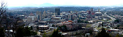 Downtown Asheville and surrounding area