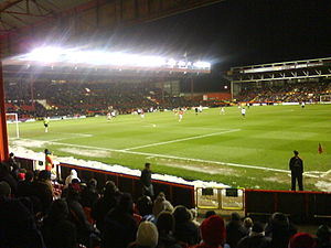 Ashton Gate Stadium - View from the home section of the Wedlock Stand