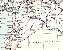 Location of Syria