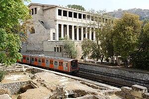 A train of Athens-Piraeus Electric Railways pa...