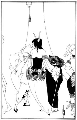 The Masque of the Red Death - Illustration by Aubrey Beardsley, 1894–1895.