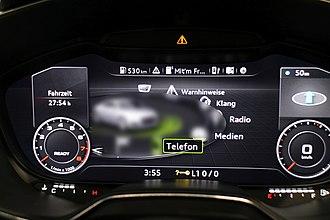 Electronic instrument cluster - Multi Media Interface-Menu on Audi virtual cockpit, Audi TT Mk3