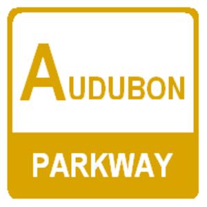Audubon Parkway - The Audubon Parkway previously used a distinctive gold shield.