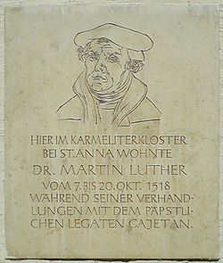 Photo of Martin Luther stone plaque