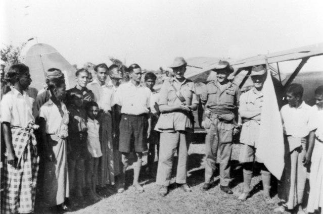 Australian officers in Akyab, Burma