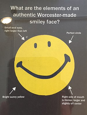 Smiley - Authentic Worcester-made smiley face, by Harvey Ball