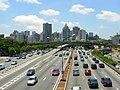 Avenida 23 de Maio, sudeste de São Paulo visto da passarela Ciccillo Matarazzo - panoramio.jpg