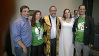 Avner and Darya's wiki Wedding at Wikimania by ovedc 24.jpg