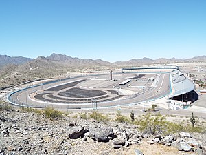 Avondale, Arizona - The Phoenix International Raceway as viewed from the summit of Monument Hill