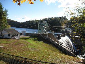 Ayers Island Reservoir - Ayers Island Dam