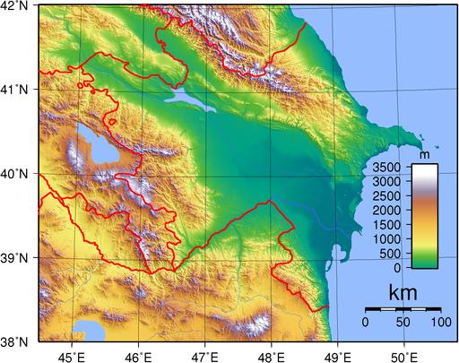 Azerbaijan Topography