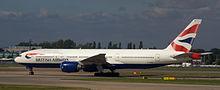 Boeing 777 della British Airways
