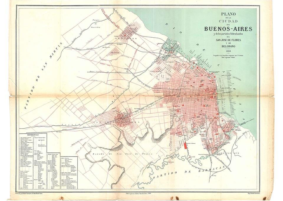 BUENOS AIRES PLANO DE 1888