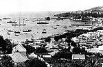 Baía do Funchal no início das obras do segundo molhe do Porto, c. 1939.jpg