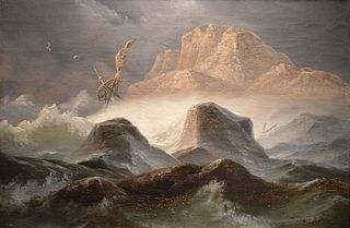 Tempête sur la côte norvégienne