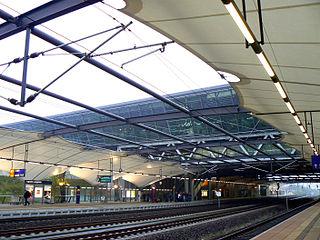railway station in Schkeuditz, Germany