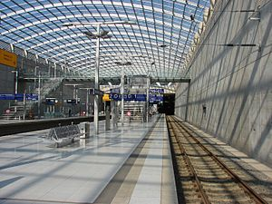 Cologne/Bonn Airport station - Image: Bahnhof Flughafen Köln Bonn