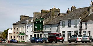 Ballindine Village in Connacht, Ireland