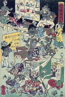 image of Kawanabe Kyōsai from wikipedia