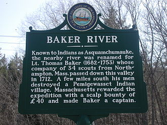 Baker River (New Hampshire) - Image: Baker River Historic Marker