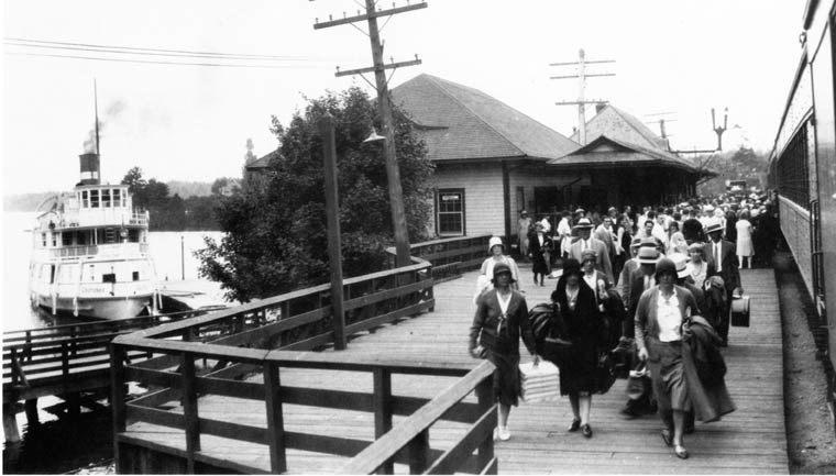 Bala train station and the SS Cherokee