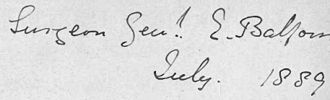 Edward Balfour - Signature