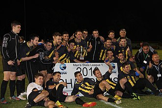 Balmain Tigers FC - Balmain Tigers FC players celebrating their 2013 NSW State League One victory