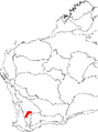 Banksia cuneata map.png