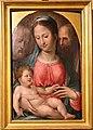 Bartolomeo neroni, teste di bara dalla compagnia di s. ansano, 1569 (siena, diocesano), madonna col bambino dormiente.jpg