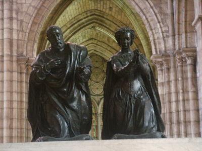 Basilica di saint Denis tomba enrico II e caterina de' Medici 03