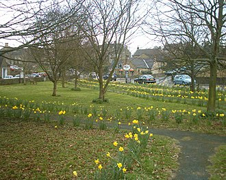 Baslow - The village green in Nether End