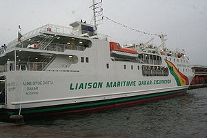 MV Aline Sitoe Diatta - Aline Sitoe Diatta at Dakar in 2008