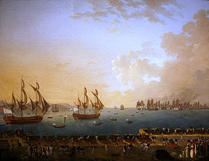 Martinique - The Battle of Martinique between British and French fleets in 1779