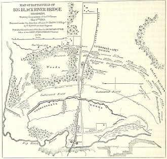 Battle of Big Black River Bridge - A map of the battle