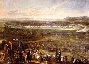 Slaget ved landskrona maleri av johan philip lemke