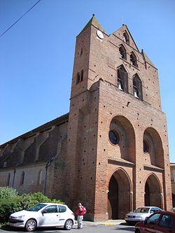 Baziège (Haute-Garonne, Fr) église de style toulousain (3).JPG