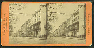 Beacon Street - Stereoscopic image of Beacon Street by Joseph L. Bates