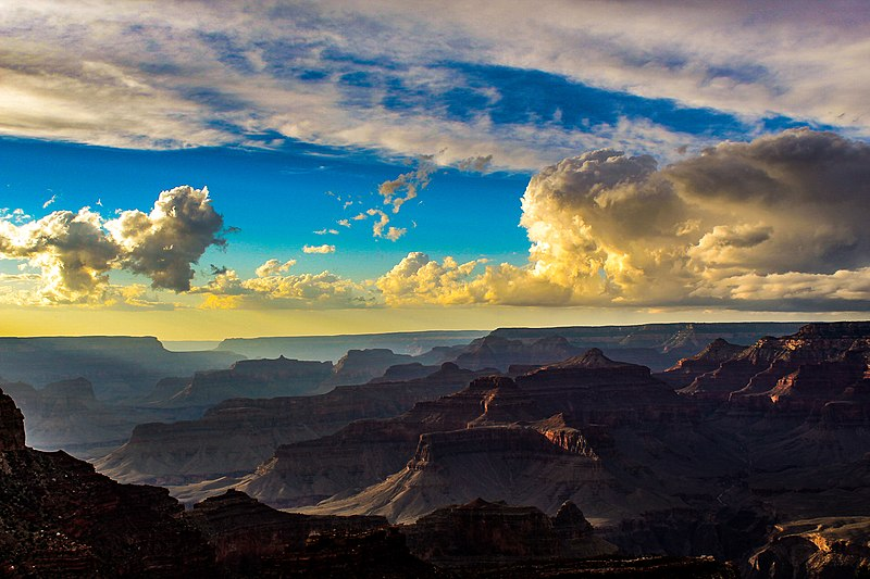 File:Beautiful clouds at sunset over the Grand Canyon South Rim.jpg