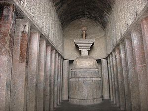 Bedse Caves - The Chaityagrha in the cave