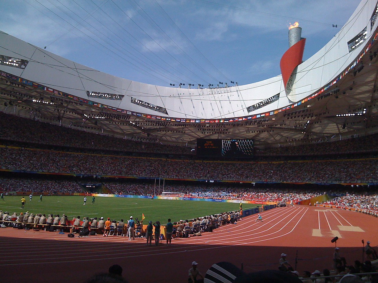 File beijing birds nest olympics track jpg wikimedia for The bird s nest stadium
