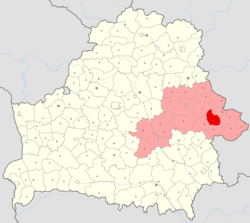 Location of Cherykaw District