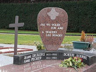 The Singing Nun - The grave of Deckers and Pécher at Cheremont Cemetery in Wavre, Brabant, Belgium