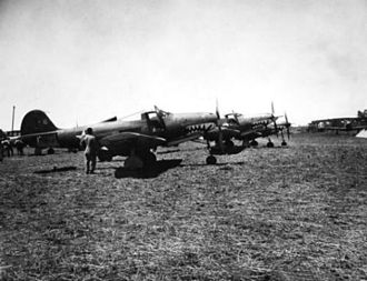 67th Fighter Squadron - 67th FS P-400s on Guadalcanal, August 1942.