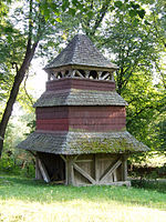 Bell tower of church of the Epiphany, Kuhaiv (02).jpg