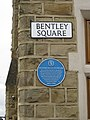Bentley Square, Oulton blue plaque and sign.jpg